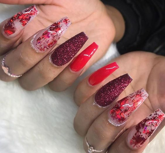 valentines day acrylic nails #valentinesnails #nailart #nails