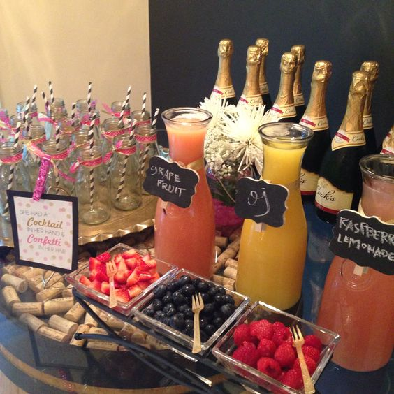 bridal shower mimosa bar ideas