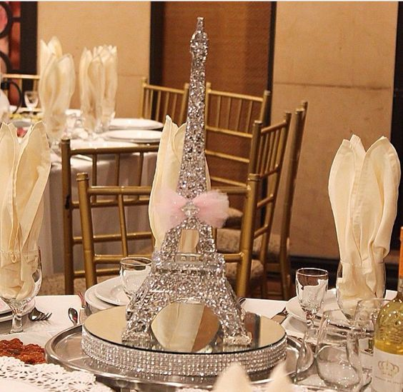 How to make an Eiffel Tower Centerpiece #paris