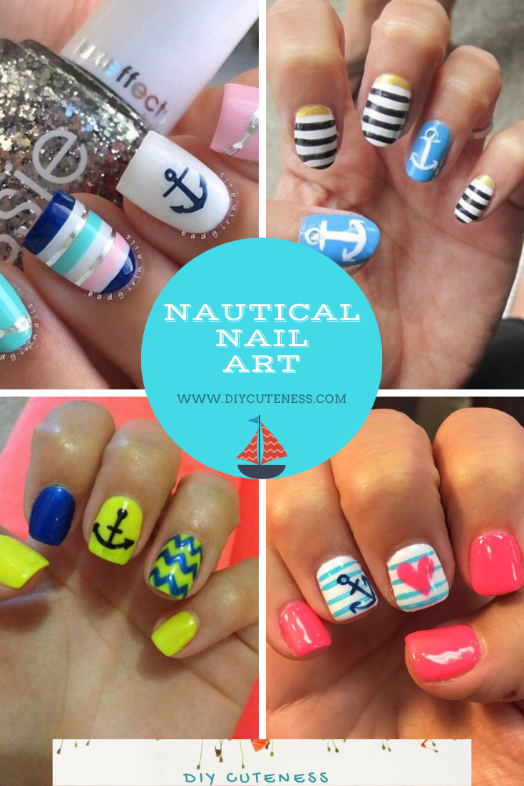 Nautical Nail Art