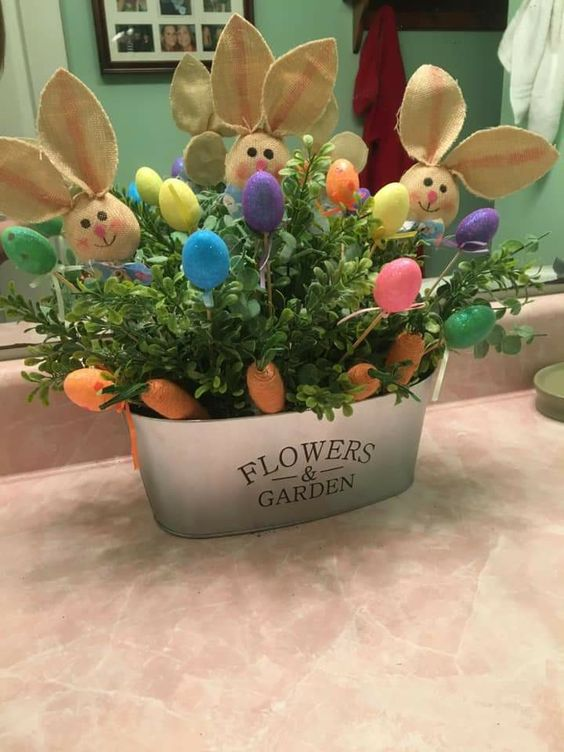 Dollar Store Easter Decorations